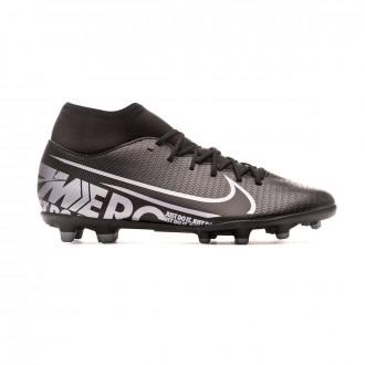 Chuteira Nike Mercurial Superfly VII Club FG/MG Black-Metallic cool grey