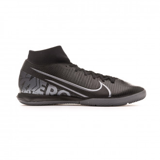 Chaussure de futsal Nike Mercurial Superfly VII Academy IC Black-Metallic cool grey