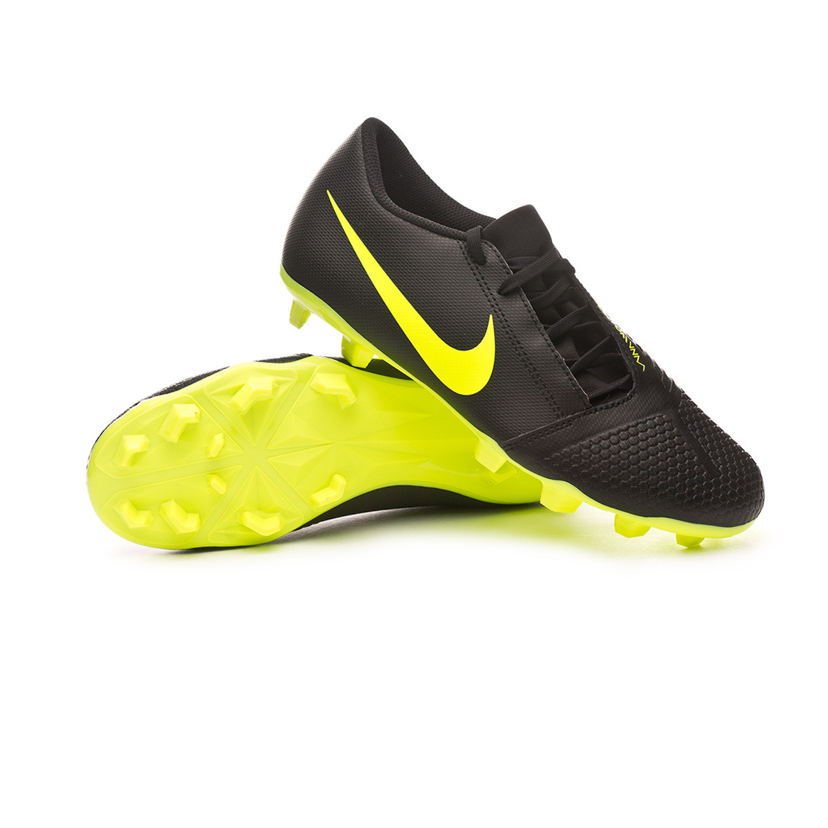 Crítica nieve Dislocación  Football Boots Nike Phantom Venom Club FG Black-Volt - Football store  Fútbol Emotion