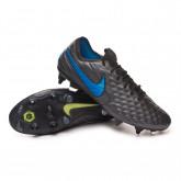 Football Boots Tiempo Legend VIII Elite SG-PRO Anti-Clog Traction Black-Blue hero