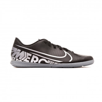 Chaussure de futsal Nike Mercurial Vapor XIII Club IC Black-Metallic cool grey
