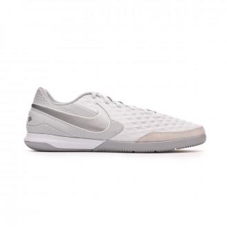 Zapatilla  Nike Tiempo Legend VIII Academy IC White-Chrome-Pure platinum