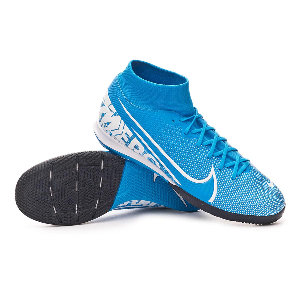 para justificar Pavimentación marzo  Futsal Boot Nike Mercurial Superfly VII Academy IC Blue hero-White-Obsidian  - Football store Fútbol Emotion