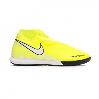 Chaussure de futsal Nike Phantom Vsion Academy DF IC Volt-White