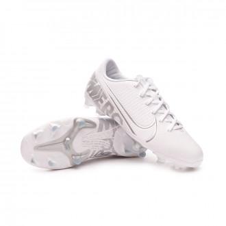 Mercurial Vapor XIII Academy FG/MG Niño White-Chrome-Metallic silver