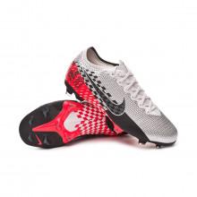 Football Boots Kids Mercurial Vapor XIII Elite FG Neymar Jr Chrome-Black-Red orbit-Platinum tint