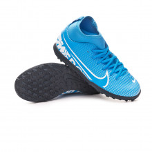 Zapatilla Mercurial Superfly VII Club Turf Niño Blue hero-White-Obsidian