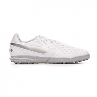 Scarpe  Nike Tiempo Legend VIII Club Turf Bambino White-Chrome-Pure platinum-Wolf grey