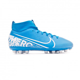 Bota Nike Mercurial Superfly VII Academy AG Niño Blue hero-White-Obsidian