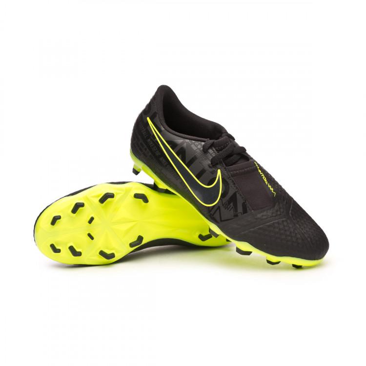 Debilidad Calumnia clima  Football Boots Nike Phantom Venom Academy FG Niño Black-Volt - Football  store Fútbol Emotion