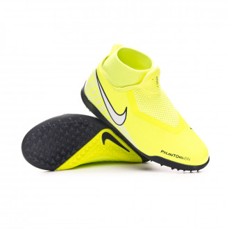 Chaussure de football Nike Phantom Vision Academy DF Turf Niño Volt-White