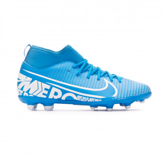 Chaussure de foot Nike Mercurial Superfly VII Club FG/MG Enfant Blue hero-White-Obsidian