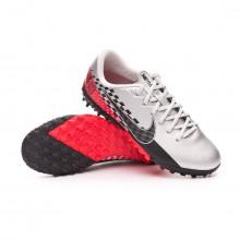 Football Boot Mercurial Vapor XIII Academy Turf Neymar Jr Niño Chrome-Black-Red orbit-Platinum tint