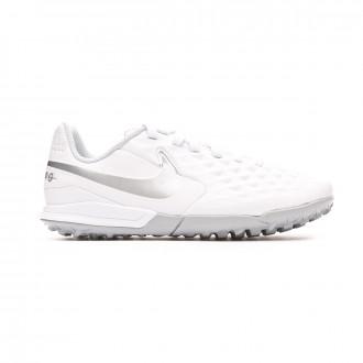 Chaussure de football  Nike Tiempo Legend VIII Academy Turf Enfant White-Chrome-Pure platinum