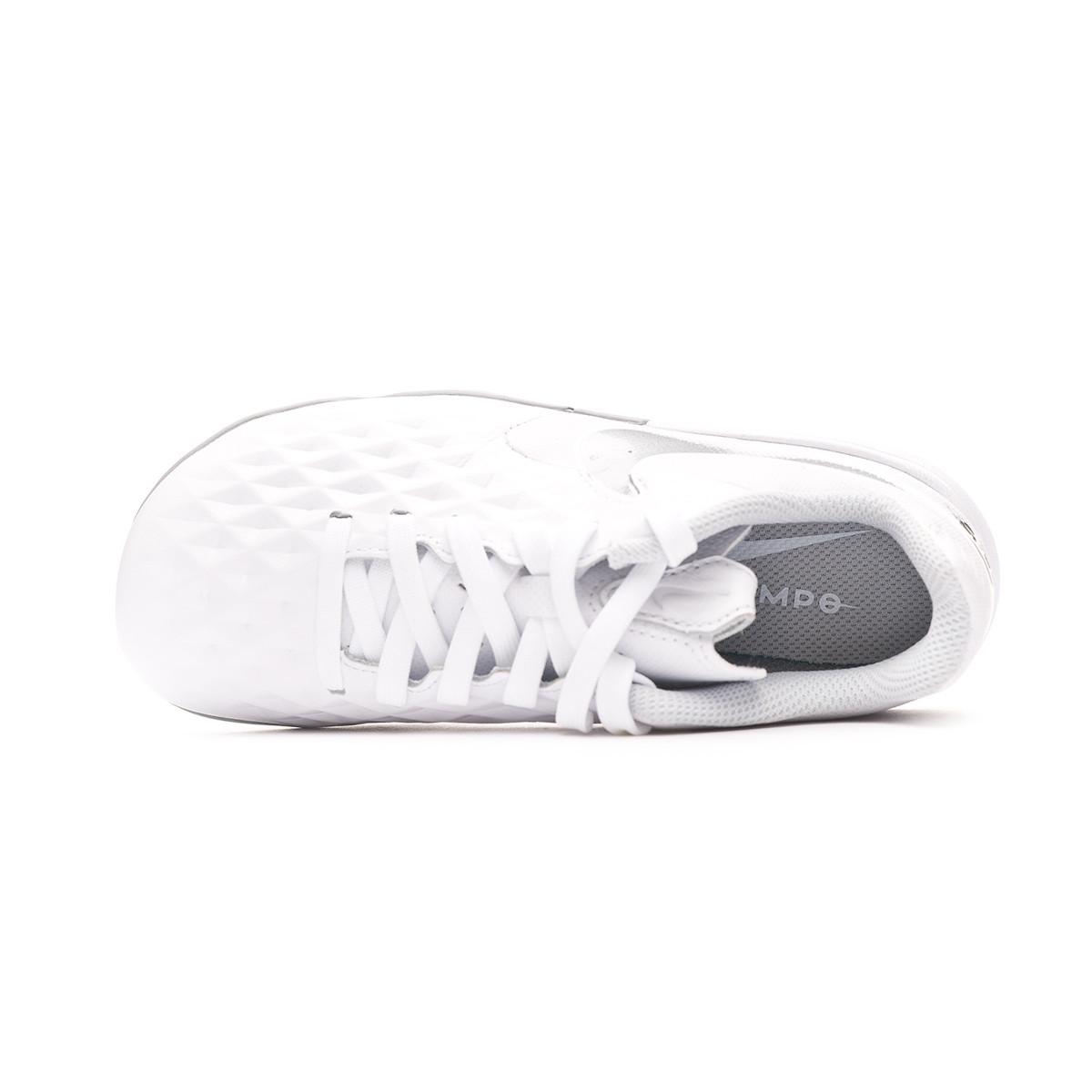 best service 4400e 838a4 Zapatilla Tiempo Legend VIII Academy Turf Niño White-Chrome-Pure platinum