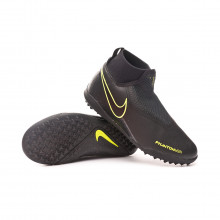 Football Boot Phantom Vision Academy DF Turf Niño Black-Volt