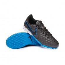 Chaussure de football Tiempo Legend VIII Academy Turf Niño Black-Blue hero