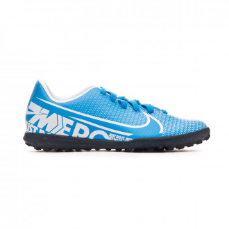 Zapatilla Nike Mercurial Vapor XIII Club Turf Niño Blue hero-White-Obsidian