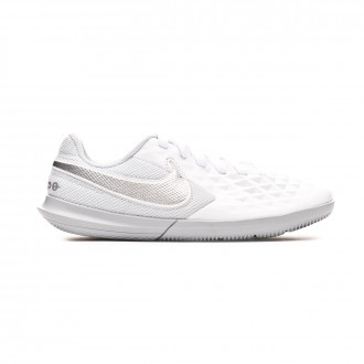 Zapatilla Nike Tiempo Legend VIII Club IC Niño White-Chrome-Pure platinum-Wolf grey