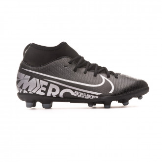 Bota Nike Mercurial Superfly VII Club FG/MG Niño Black-Metallic cool grey
