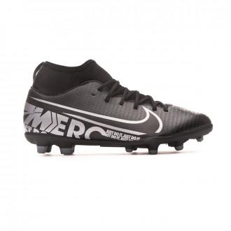 Chuteira Nike Mercurial Superfly VII Club FG/MG Criança Black-Metallic cool grey