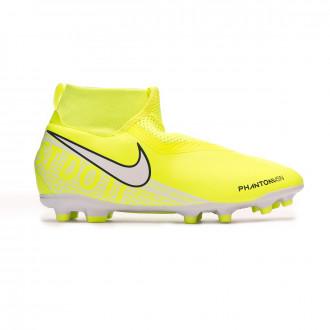 Chaussure de foot Nike Phantom Vision Academy DF FG/MG Niño Volt-White