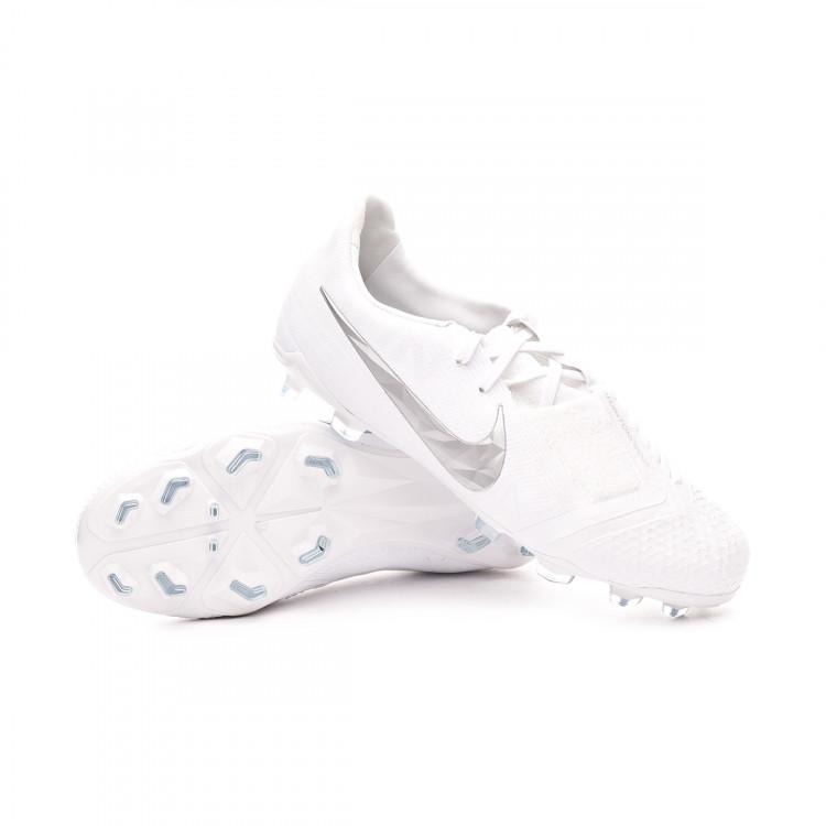 Cierto silencio pureza  Football Boots Nike Kids Phantom Venom Elite FG White-Metallic platinum -  Football store Fútbol Emotion