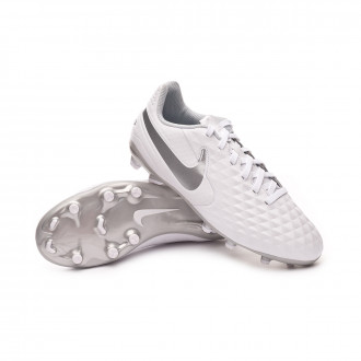 Tiempo Legend VIII Academy FG/MG Enfant White-Chrome-Pure platinum