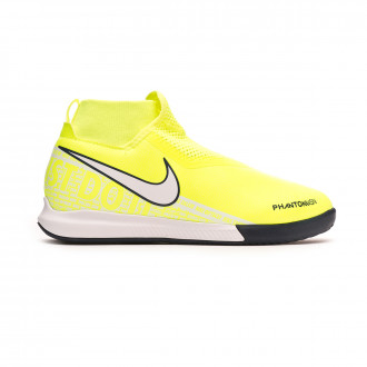 Chaussure de futsal Nike Phantom Vsion Academy DF IC Niño Volt-White