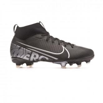 Bota Nike Mercurial Superfly VII Academy FG/MG Niño Black-Metallic cool grey