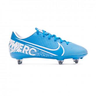 Zapatos de fútbol Nike Mercurial Vapor XIII Academy SG Niño Blue hero-White-Obsidian