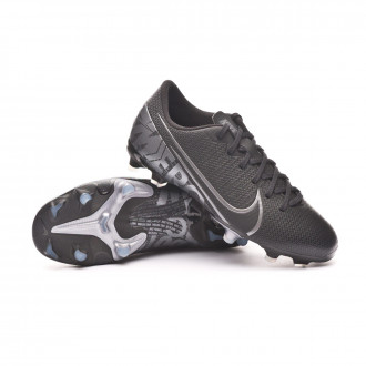 Mercurial Vapor XIII Academy FG/MG Enfant Black-Metallic cool grey-Chrome
