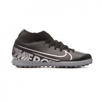 Sapatilhas Nike Mercurial Superfly VII Club Turf Criança Black-Metallic cool grey