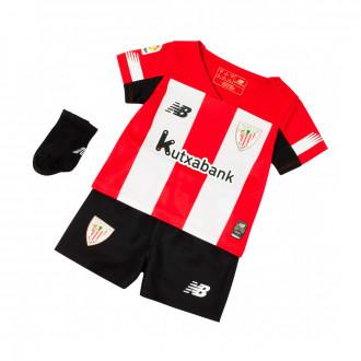 Conjunto  New Balance AC Bilbao Primera Equipación 2019-2020 Niño Red-White-Black
