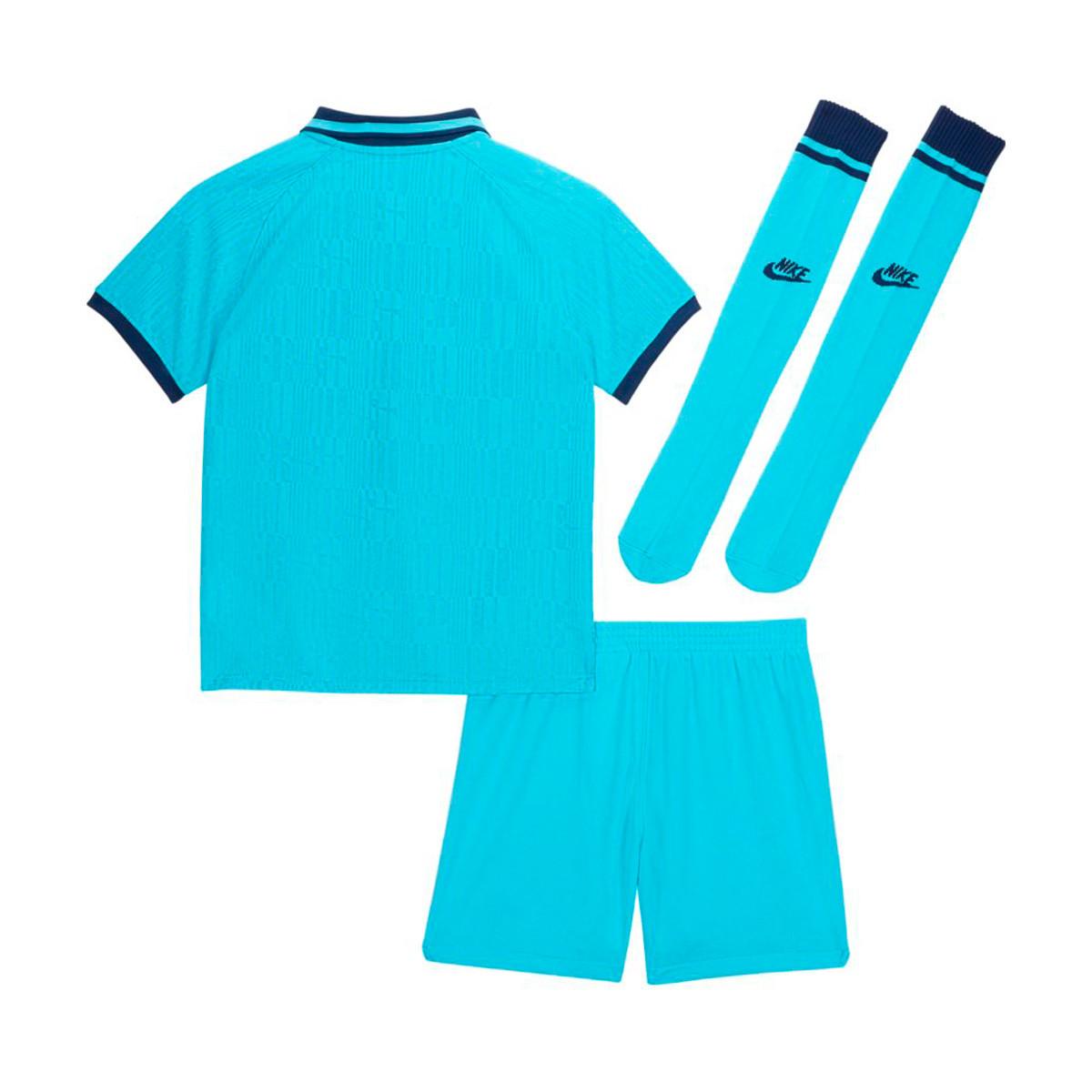 Kit Nike Tottenham Hotspur Breathe Tercera Equipacion 2019 2020 Nino Blue Fury Binary Blue Football Store Futbol Emotion