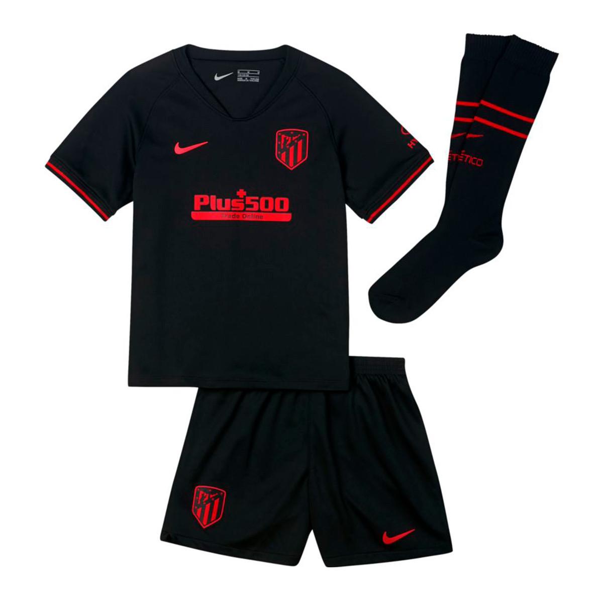 new products e7add 5fd6c Conjunto Atletico de Madrid Breathe Segunda Equipación 2019-2020 Niño  Black-Challenge red