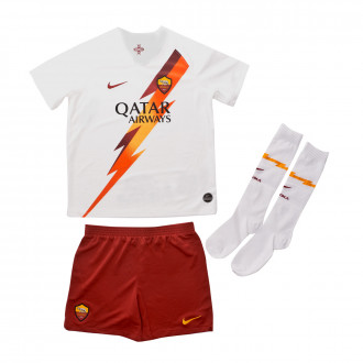Kit  Nike SL Roma Breathe Segunda Equipación 2019-2020 Niño White-team crimson
