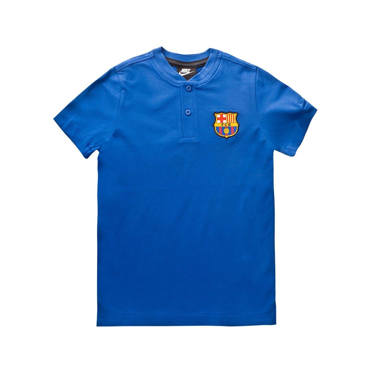 camiseta tipo polo fc barcelona