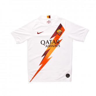 Jersey Nike Kids SL Roma Breathe Stadium 2019-2020 Away White-team crimson