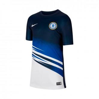 Camiseta Nike Chelsea CF Dry Top 2019-2020 Niño White-Obsidian