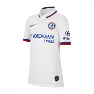 Camiseta Nike Chelsea FC Breathe Stadium Segunda Equipación 2019-2020 Niño White-Rush blue