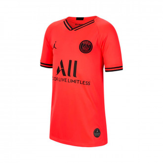 Camisola Nike Paris Saint-Germain Breathe Stadium Equipamento Suplente 2019-2020 Criança Infrared-Black