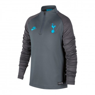 Sweat Nike Tottenham Hotspur Dry Strike Dril 2019-2020 Enfant Flint grey-Dark grey-Blue fury