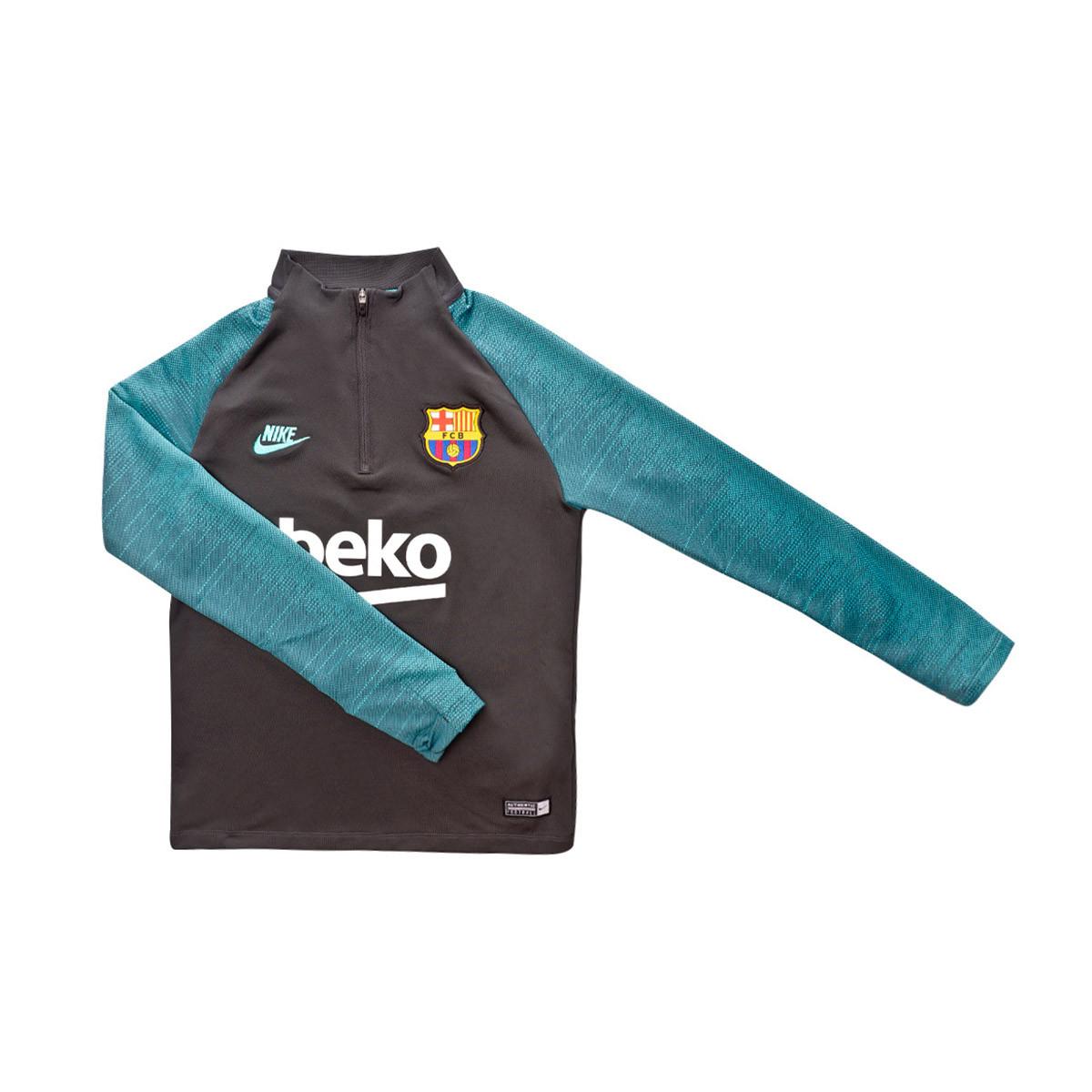 Sweat Nike FC Barcelona Dry Strike Dril 2019 2020 Dark smoke