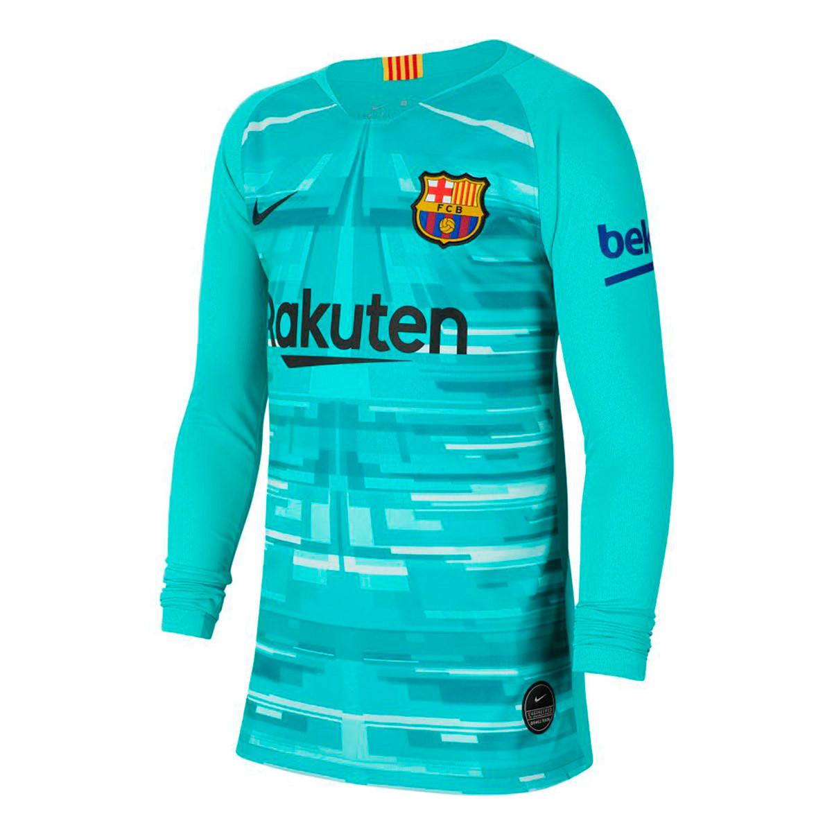 Cuaderno violación Autonomía  Camiseta Nike FC Barcelona Breathe Stadium Portero 2019-2020 Niño Hyper  jade-Black - Tienda de fútbol Fútbol Emotion