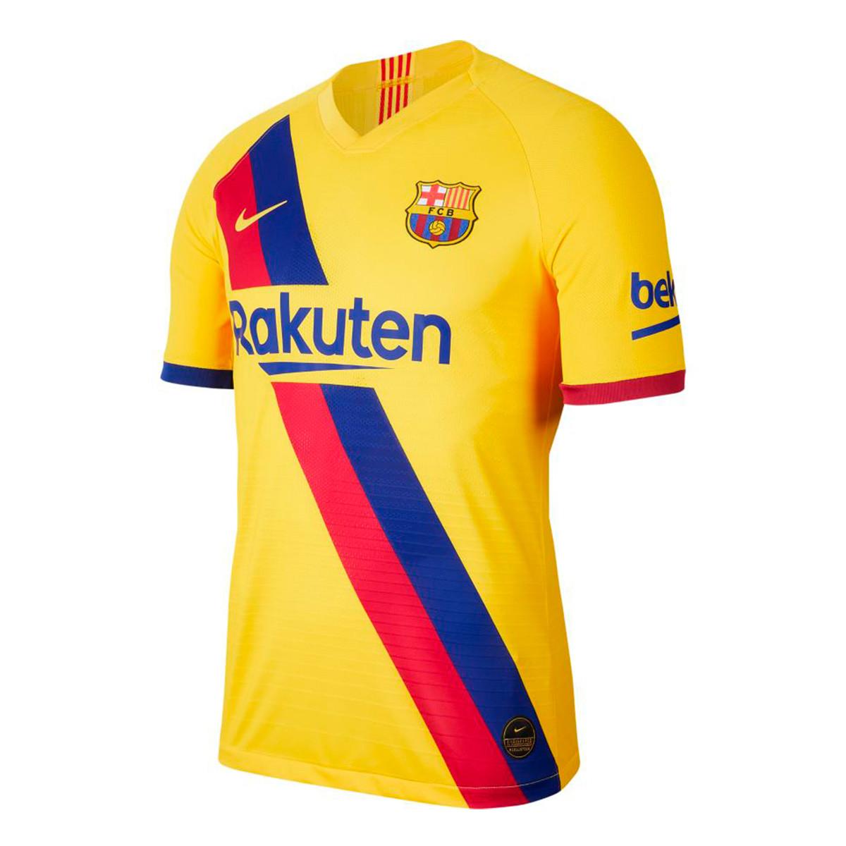 camiseta nike fc barcelona vapor match segunda equipacion 2019 2020 varsity maize tienda de futbol futbol emotion camiseta nike fc barcelona vapor match segunda equipacion 2019 2020