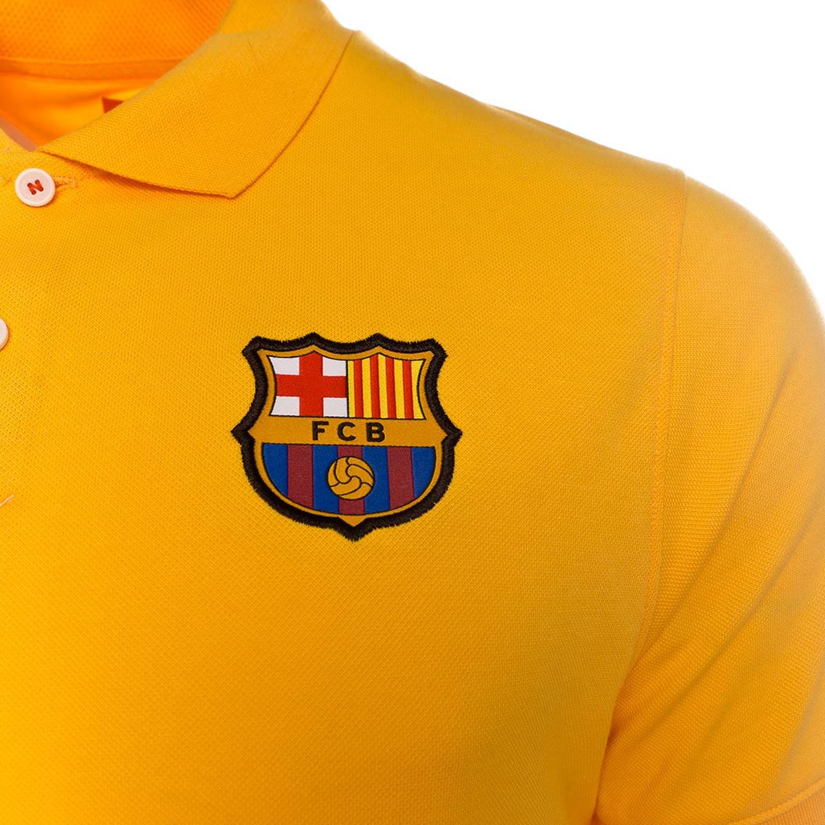 Residente uno Víctor  Polo shirt Nike FC Barcelona 2019-2020 Varsity maize - Football store  Fútbol Emotion
