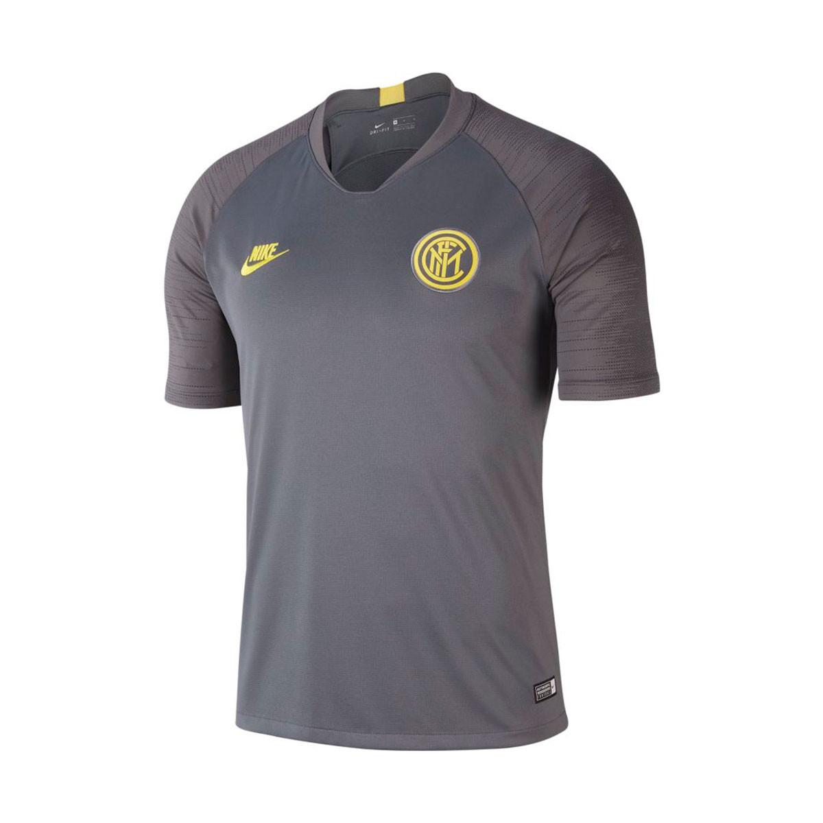 newest 165a6 11007 Camiseta Inter Milan Milan Breathe Strike 2019-2020 Dark  grey-Anthracite-Tour yellow