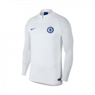 Sudadera Nike Chelsea FC Dry Strike Dril 2019-2020 White-Pure platinum-Rush blue