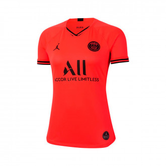Camiseta Nike Paris Saint-Germain Breathe Stadium Segunda Equipación 2019-2020 Mujer Infrared-Black